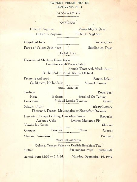 forest_hills_house_franconia_nh_resort_menu_1942